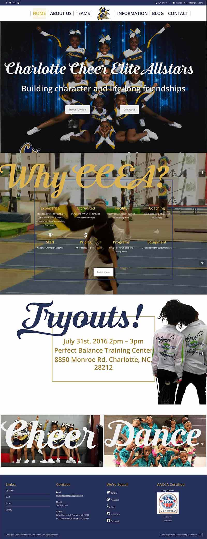 Website redesign for cheer team 12 1betcityfo Choice Image